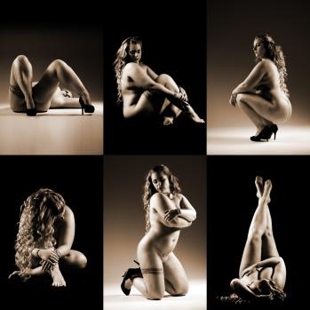 collage med boudoirbilleder