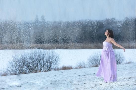 graviditetbilleder udendørs vinter