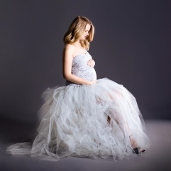 graviditetskjole i tyl