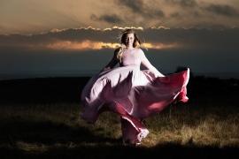 prinsseskjole til gravidfotografering maternity photoshoot