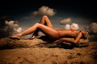strand fotografering gravid