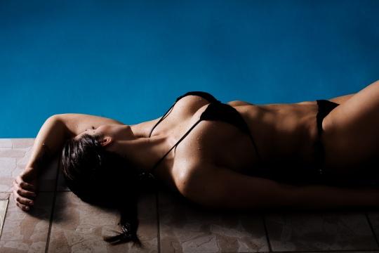 swimmingpool modelfotografering