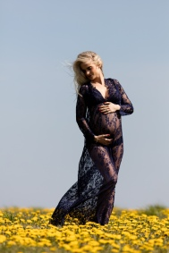 Kjole til gravidfotografering