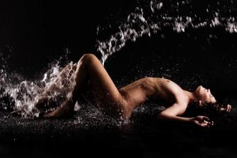 vand modelfotografering