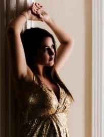 maternity dress in gold og gravidkjole